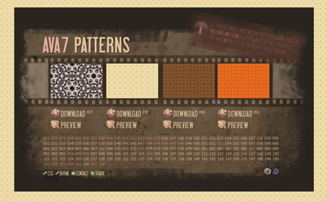 Ava7 Patterns – Muitos padrões para seus projetos web
