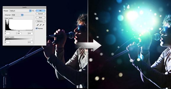 16 Tutoriais para conseguir efeitos de luz com Photoshop