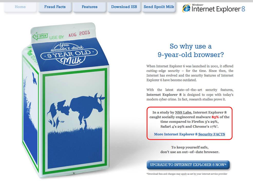 Microsoft contra Internet Explorer 6.