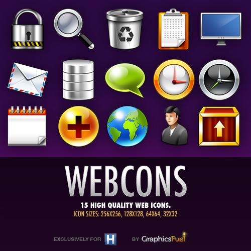 15 ícones de alta qualidade