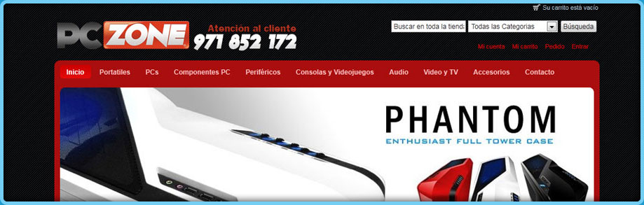 Loja Virtual PC Zone com Magento
