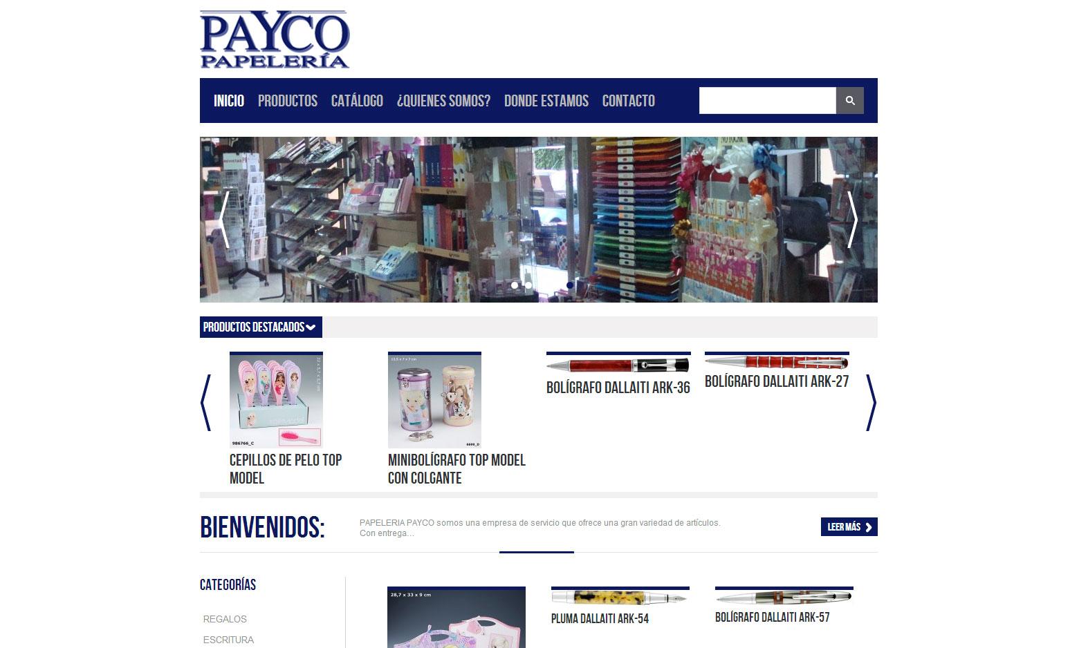 Criação do Site Payco Papeleria
