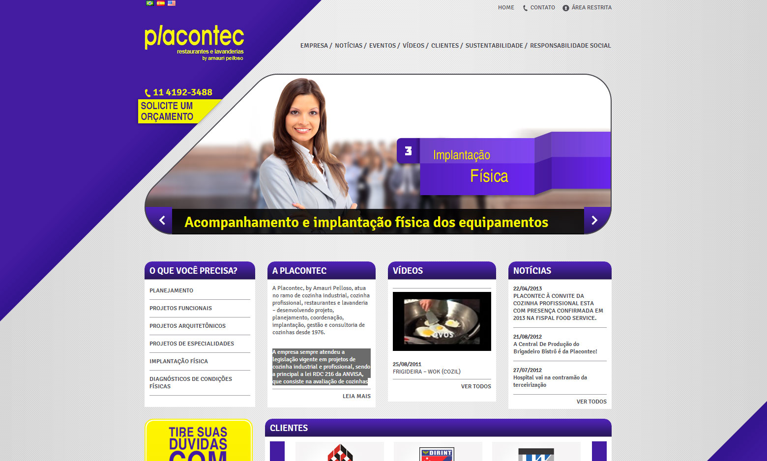 Criação do Site Placontec