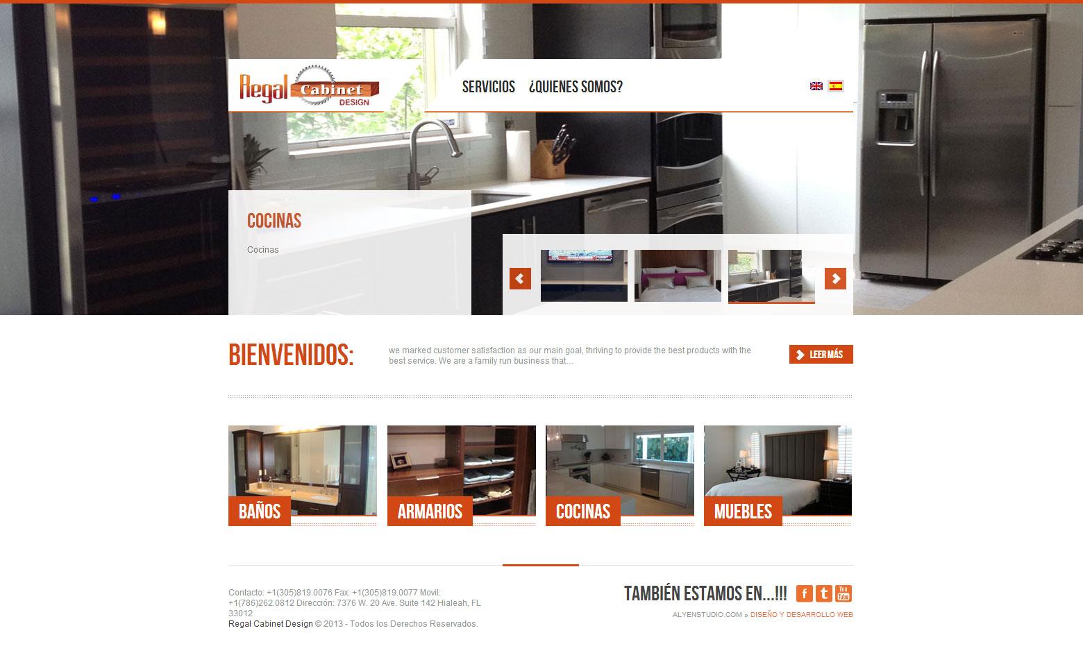 Criação do Site Regal Cabinet Design