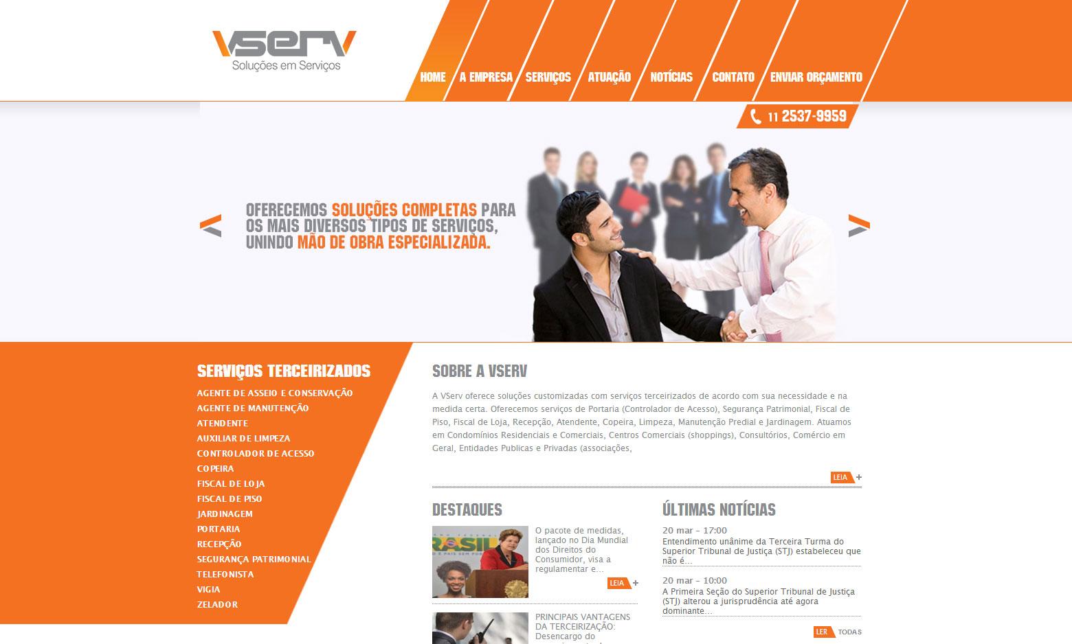 Criação do Site VServ