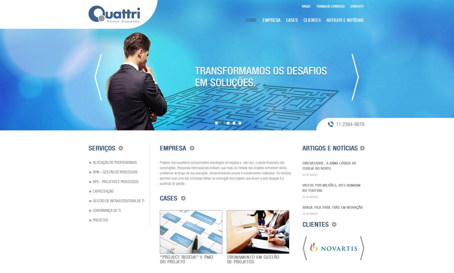 Criação do Site Quattri