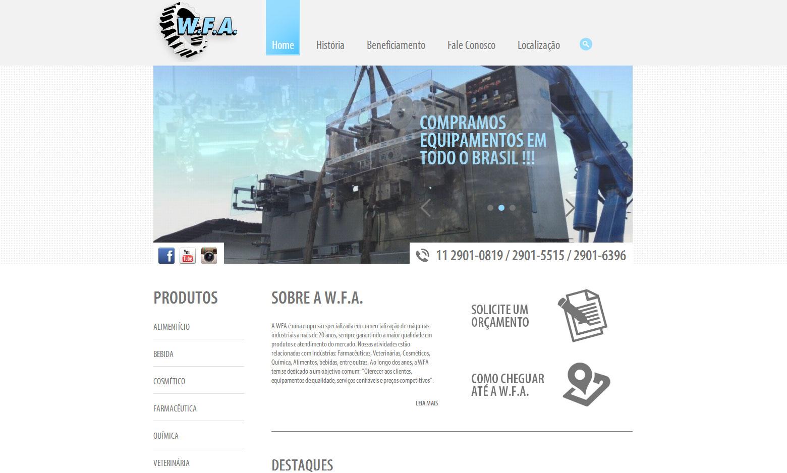 Criação do Site WFA