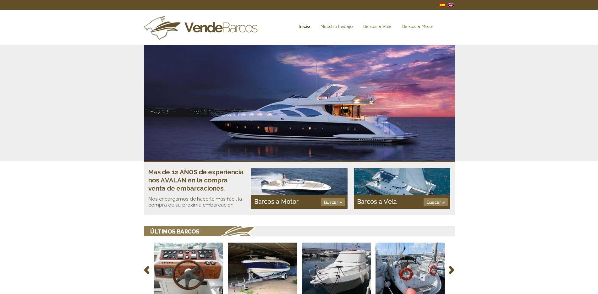Criação do Site Vende Barcos com WordPress